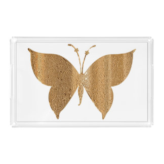 Gold Butterfly Serving Tray