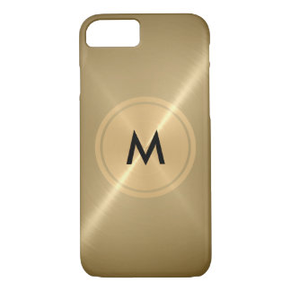 Gold Button and Bronze Stainless Steel Metal iPhone 7 Case