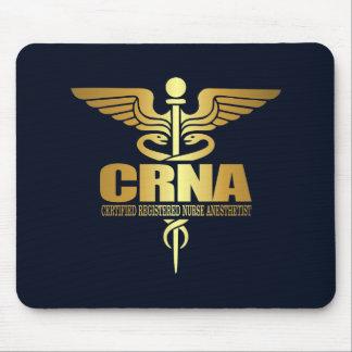 Gold Caduceus (CRNA) Mouse Pad