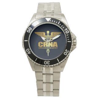 Gold Caduceus (CRNA) Watch