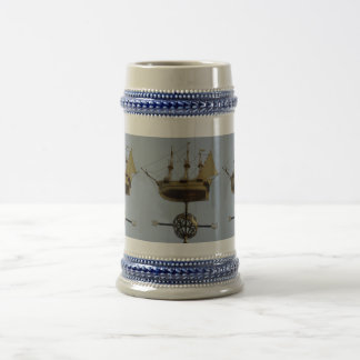 Gold Calyon Compass Rose Gray /Blue 22 oz Stein