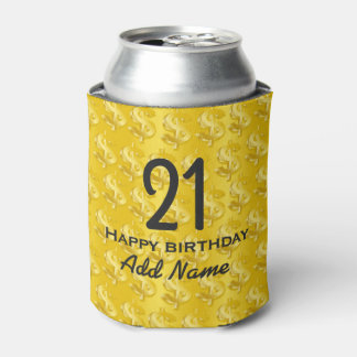 $ Gold $ Can Cooler