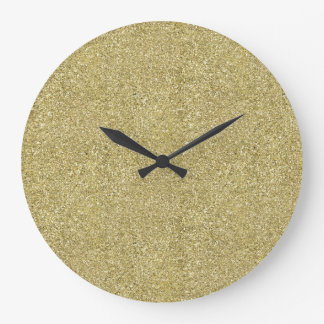 Gold Canvas Large Clock
