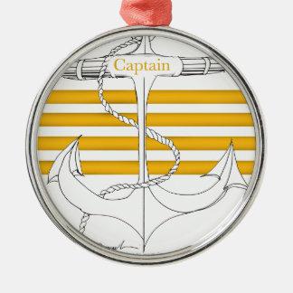 gold captain, tony fernandes metal ornament