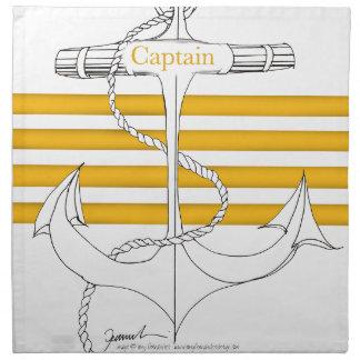 gold captain, tony fernandes napkin