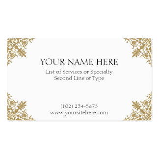 Gold Card Pack Of Standard Business Cards