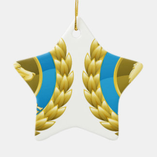 Gold cat and dog pet medals christmas ornaments