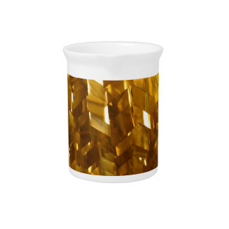 Gold Ceiling Abstract Art Pitcher