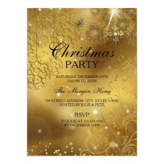 Gold Celebration Sparkle Christmas Holiday Invite