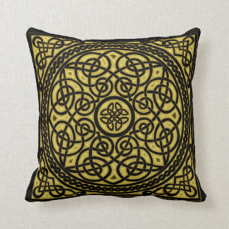 gold celtic design cushion