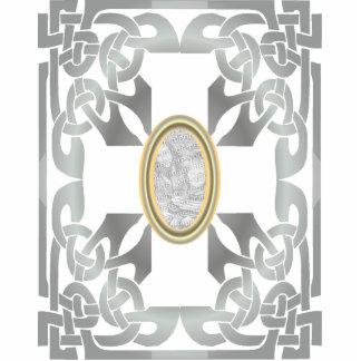 Gold Celtic Design Photo Frame Sculpture Photo Cutouts