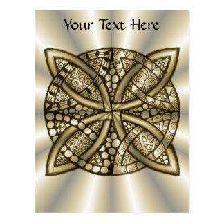 Gold Celtic Knot Original Art Design Post Cards