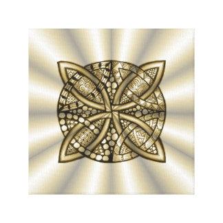 Gold Celtic Knot Original Artistic Design Canvas Print