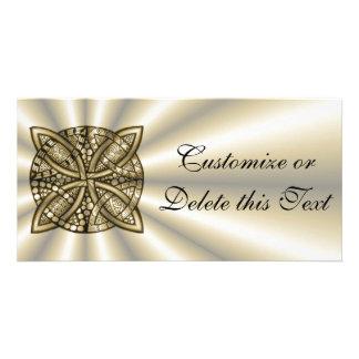 Gold Celtic Knot Original Design Picture Card