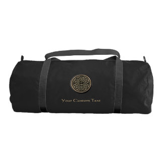 Gold Celtic Knot Personalized Duffel Gym Duffel Bag