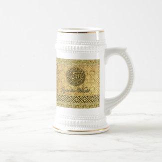 Gold Celtic Symbolic Joyful Holiday Stein Beer Steins