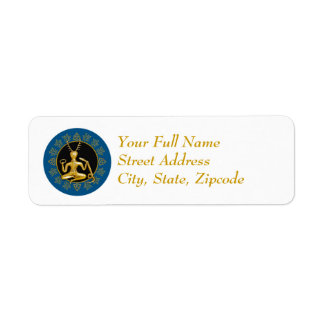 Gold Cernunnos, Holly, & Tri-quatra - Label #3 Return Address Label
