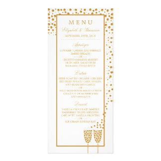 Gold Champagne Bubbles Wedding Menu