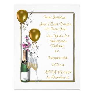 Gold Champagne Party Invitation