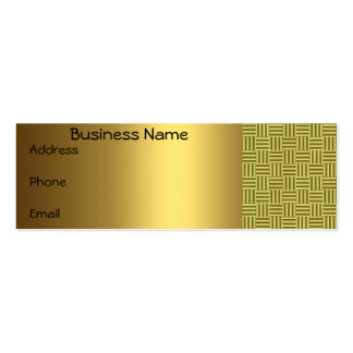 Gold checkered Business Card