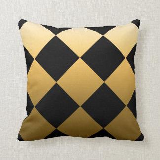 Gold Checkered Pattern Cushion