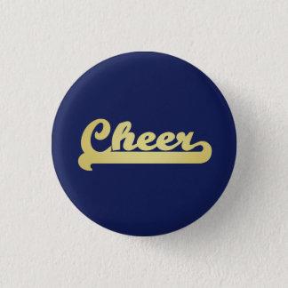 Gold Cheer Typography 3 Cm Round Badge