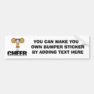 Gold Cheerleading T-shirts and Gifts Car Bumper Sticker