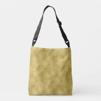Gold Chevron Cross body bag