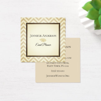 Gold Chevron Executive Square Business Card
