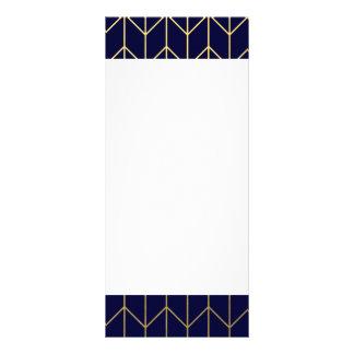 Gold Chevron Navy Blue Background Modern Chic Custom Rack Card