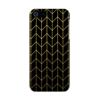 Gold Chevron on Black Background Modern Chic Incipio Feather® Shine iPhone 5 Case