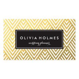 Gold Chevron Pattern Business Card