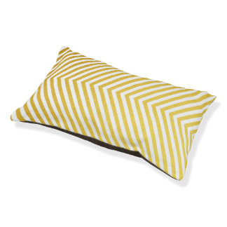 Gold chevron pet bed