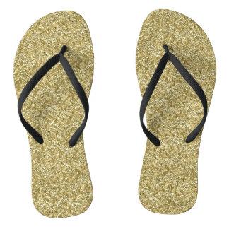 gold chevron thongs
