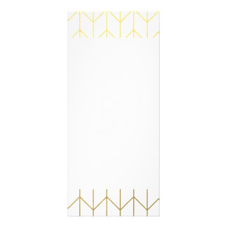 Gold Chevron White Background Modern Chic Rack Card Template