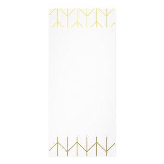 Gold Chevron White Background Modern Chic Rack Card