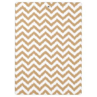 Gold Chevron Zigzag Pattern Clipboard