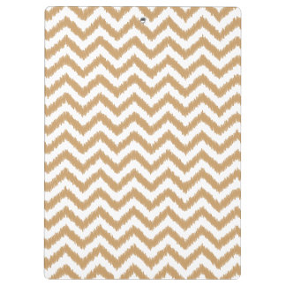 Gold Chevron Zigzag Pattern Clipboards