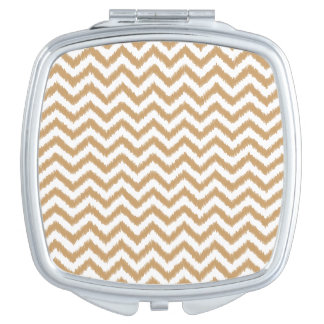 Gold Chevron Zigzag Pattern Compact Mirror
