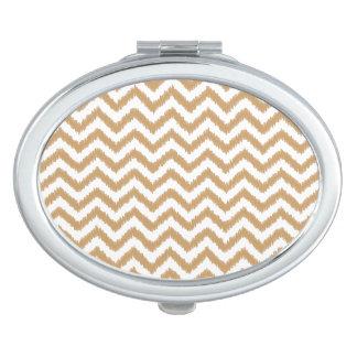Gold Chevron Zigzag Pattern Makeup Mirrors