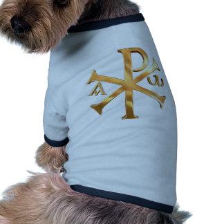 Gold Chi-Rho Dog T Shirt