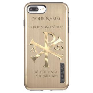 Gold Chi-Rho Incipio DualPro Shine iPhone 8 Plus/7 Plus Case