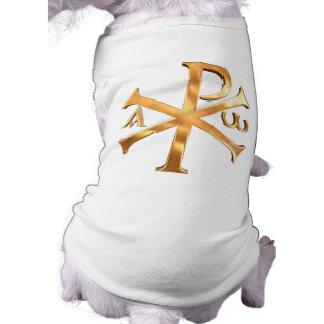 Gold Chi-Rho Sleeveless Dog Shirt