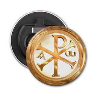 Gold Chi-Rho Symbol Bottle Opener