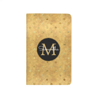 Gold Chic Dots Monogram Journal