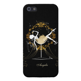 Gold chic elegant black glitter new year party iPhone 5 covers