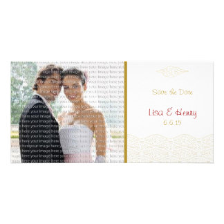 Gold Chinese Clouds Save the Date Cards Photo Cards