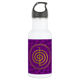 Gold  Choku Rei Symbol on lotus 532 Ml Water Bottle