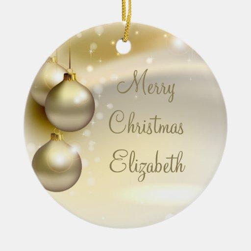 Gold Christmas Balls on Gold Christmas Ornament