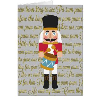 Gold Christmas Little Drummer Boy Card